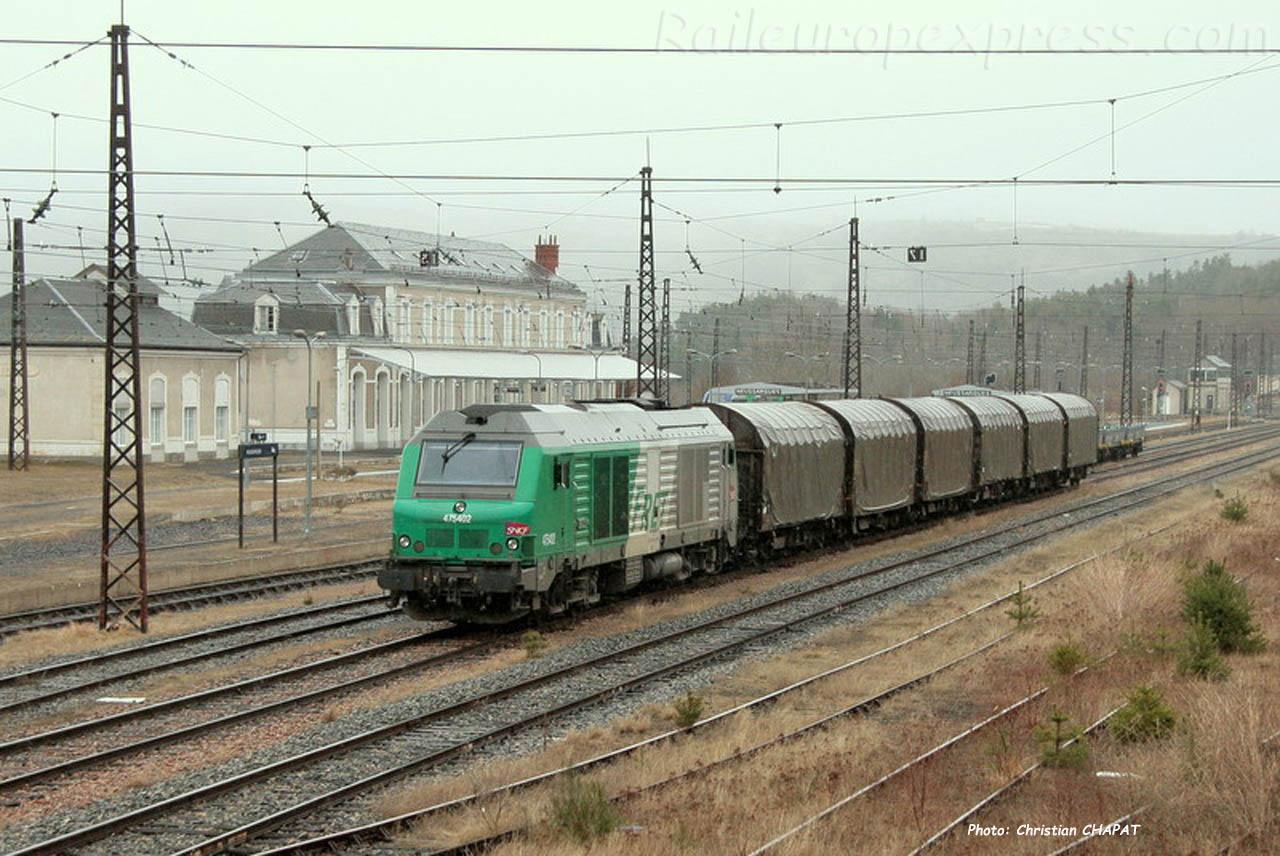 BB 75402 SNCF à Neussargues (F-15)