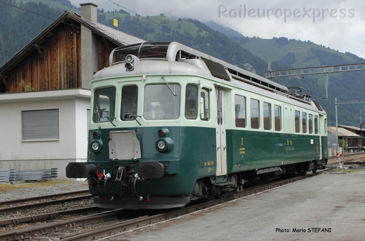 Be 4/4 BN 761 à Frutigen (CH)