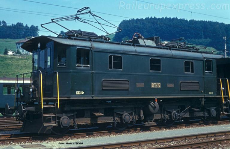 BT Be 4/4 16 Hérisau 01-08-1973 DMS NSOB01A 12 copie