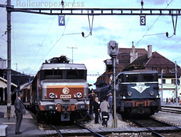 CC 21002 et BB 16514 SNCF à Vallorbe (CH)