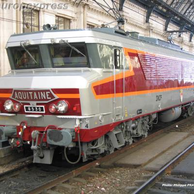 CC 6530 SNCF en gare de Bordeaux Saint Jean (F 33)