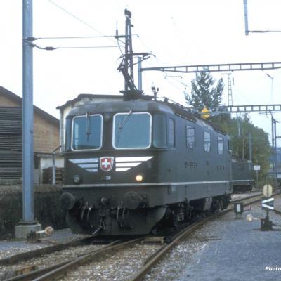 CFF Re 4/4 II 11238 Moustache Yverdon