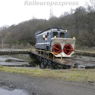 Chasse-neige rotatif SNCF à Neussargues