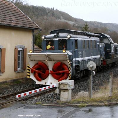 Chasse-neige rotatif SNCF près de Neussargues (F-15)