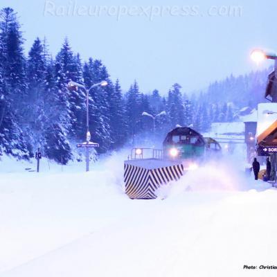 Chasse-neige SNCF au Lioran (F-15)