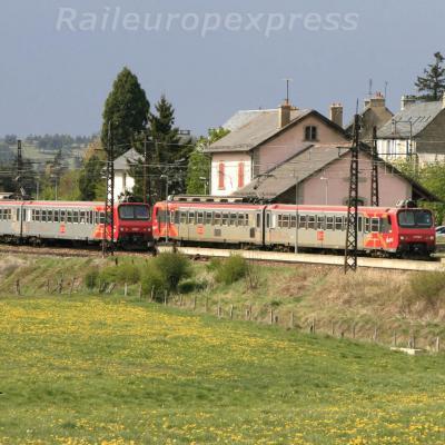 Croisement de Z2 à Aumont Aubrac