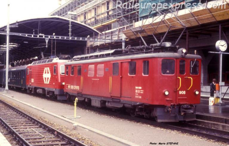 Deh 4/6 908 à Luzern (CH)