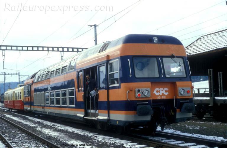 Autorail A2n 001 CFC aux Verrières (CH)