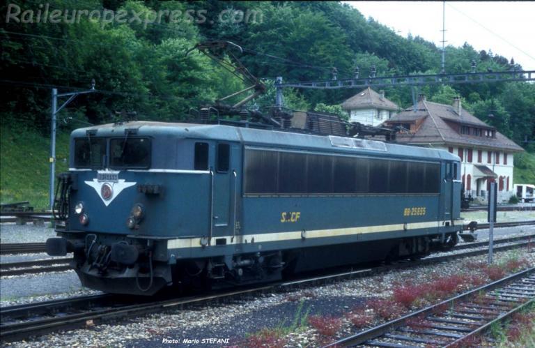 BB 25655 SNCF à Vallorbe (CH)