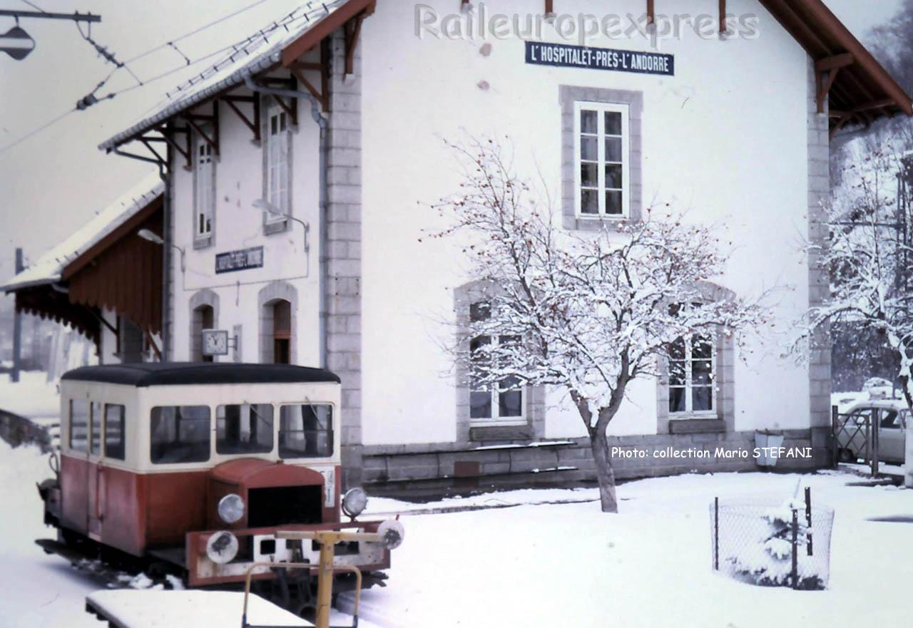 Draisine SNCF à l'Hospitalet près l'Andorre (F-09)