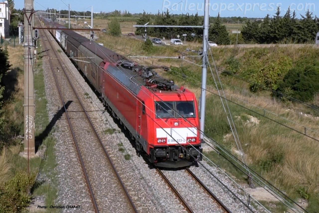 E 185 323-2 DB à Mireval (F-34)