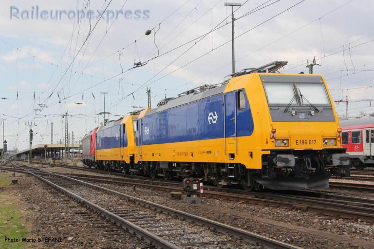 E 186 017 NS à Basel (CH)