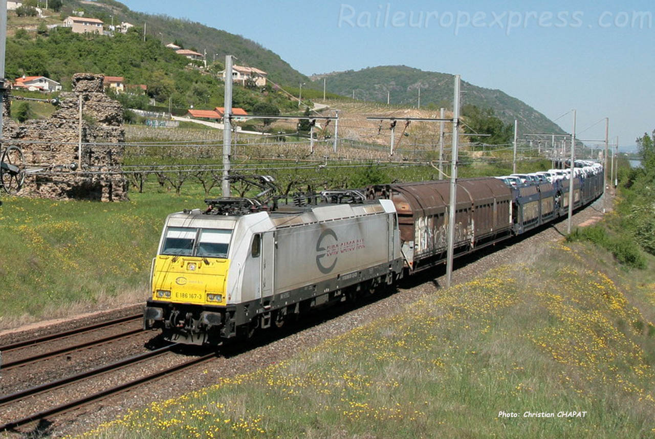 E 186 167-3 ECR à Saint Bosc (F-07)