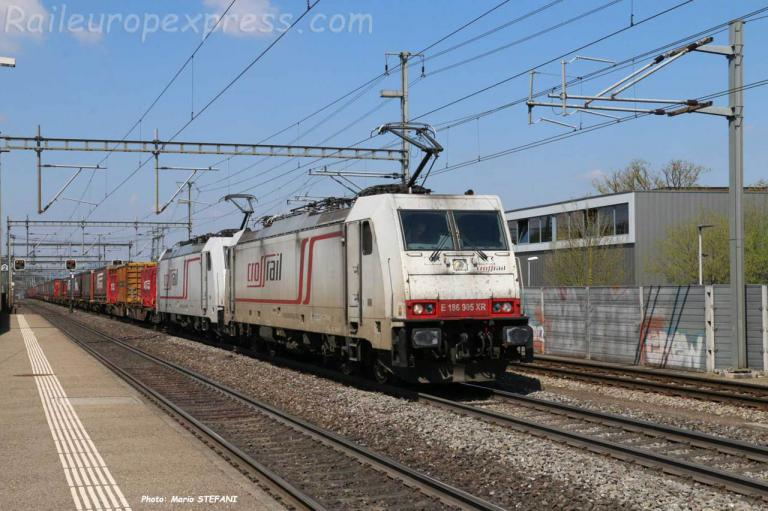 E 186 905-6 Crossrail à Dottikon-Dintikon (CH)