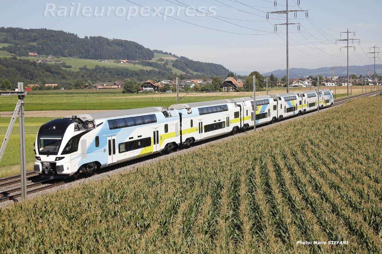 Essais automotrice Westbahn à Kiesen