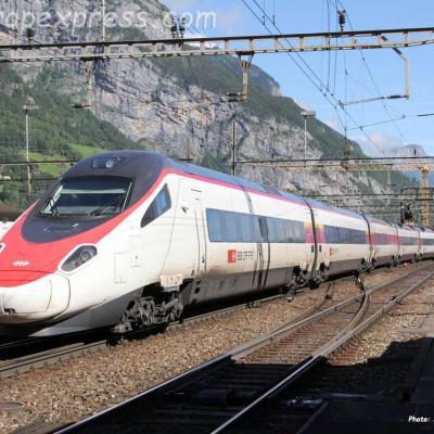 ETR 610 CFF à Erstfeld (CH)