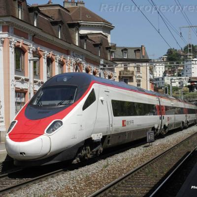 ETR 610 CFF à Montreux (CH)