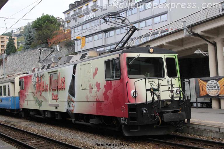 GDe 4/4 6006 MOB à Montreux (CH)