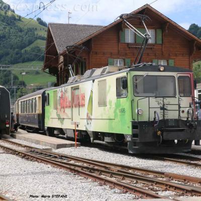 GDe 4/4 6006 MOB à Montbovon (CH)