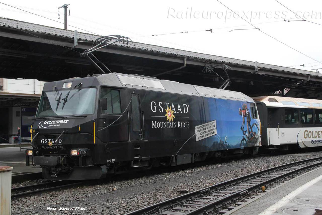 Ge 4/4 8001 MOB à Montreux (CH)