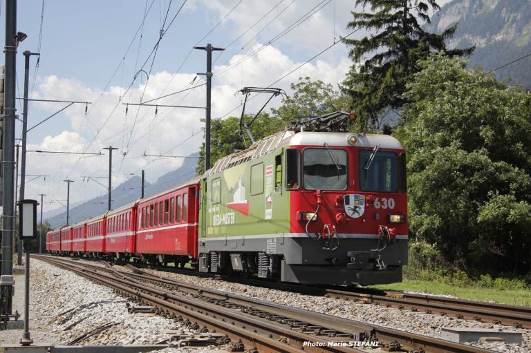 Ge 4/4 II 630 100 RhB à Felsberg