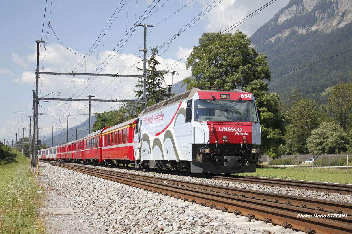 Ge 4/4 III 650 RhB à Felsberg