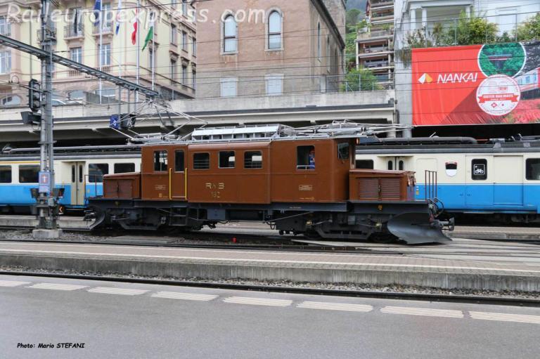 Ge 4/4 182 RhB à Montreux (CH)