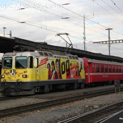 Ge 4/4 II 611 RhB à Landquart (CH)