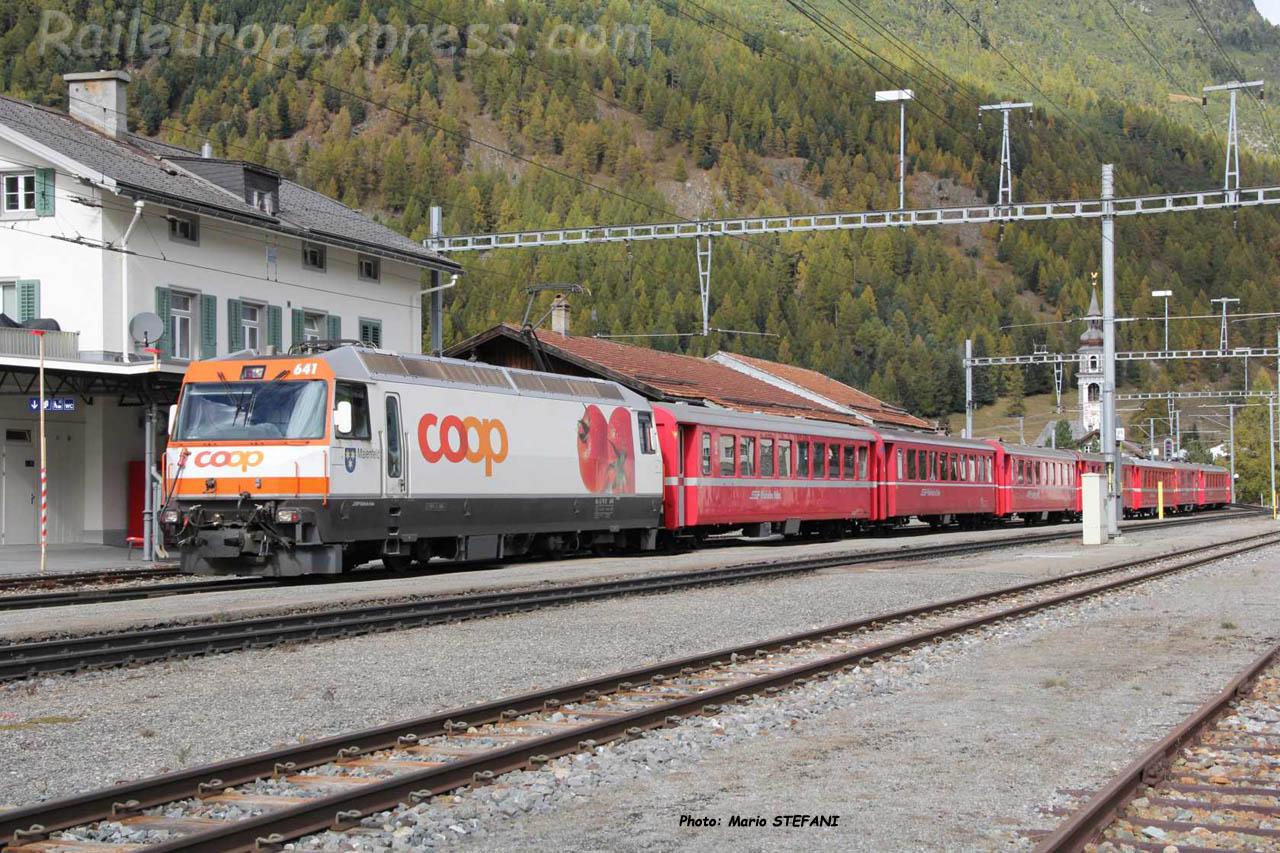 Ge 44 III 641 RhB à Bever (CH)