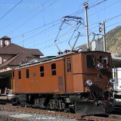 Ge 4/6 353 RhB à Pontresina (CH)