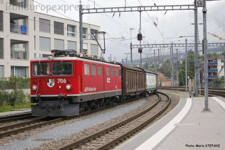 Ge 6/6 II 706 RhB à Chur (CH)