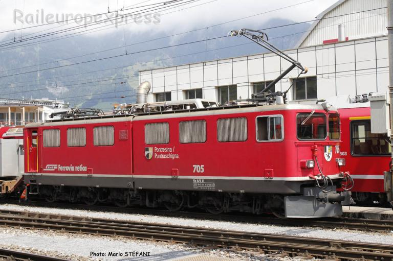 Ge 6/6 II 705 RhB à Landquart (CH)