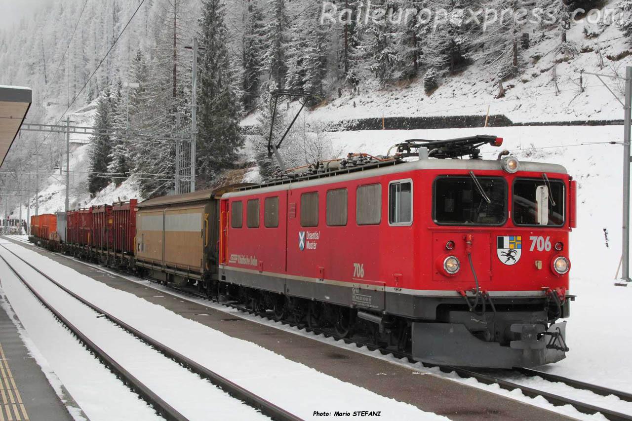 Ge 6/6 II 706 RhB à Bergün (CH)