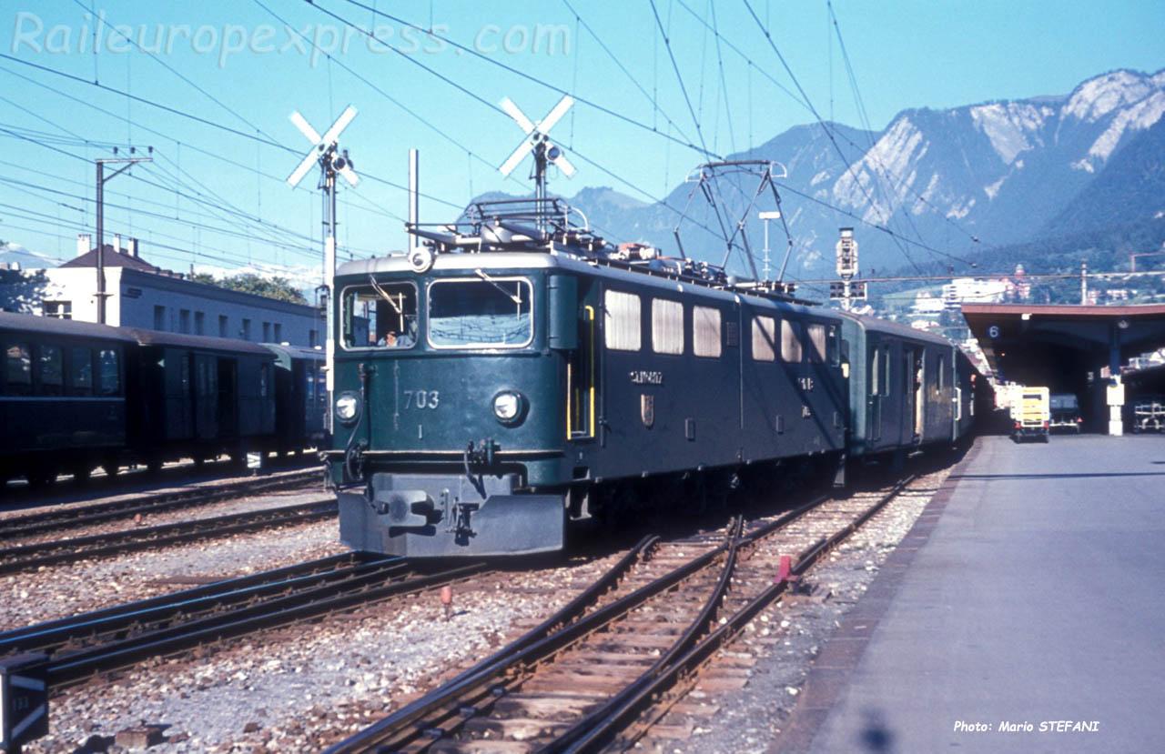 Ge 6/6 II 703 à Chur (CH)
