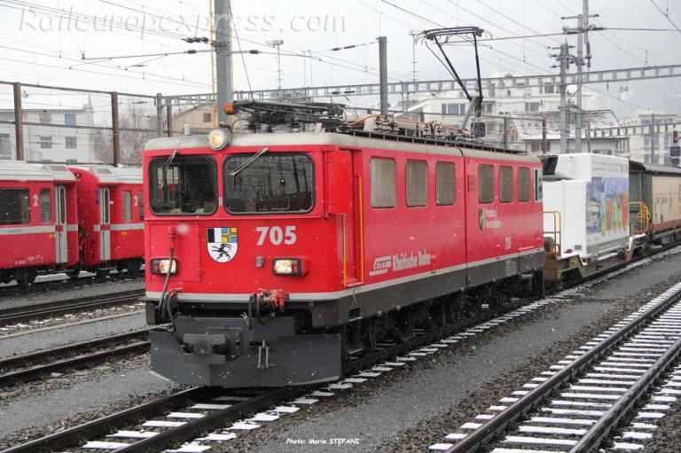 Ge 6/6 II 705 RhB à Chur (CH)