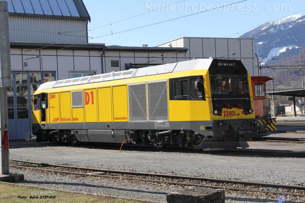 Gmf 23401 RhB à Lanquart (CH)
