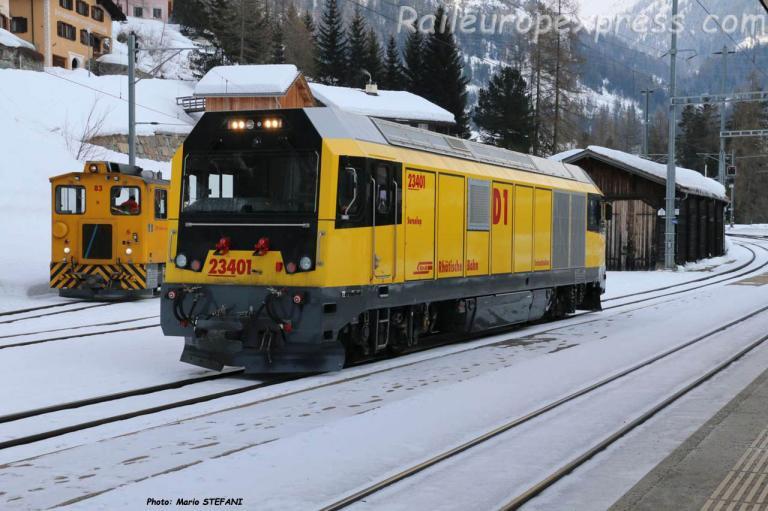 Gmf 4/4 25401 RhB à Bergün (CH)