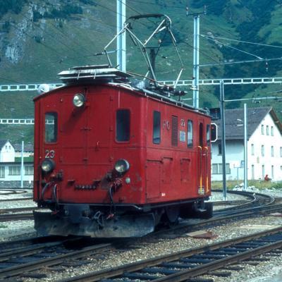HGe 2/2 23 FO à Andermatt (CH)