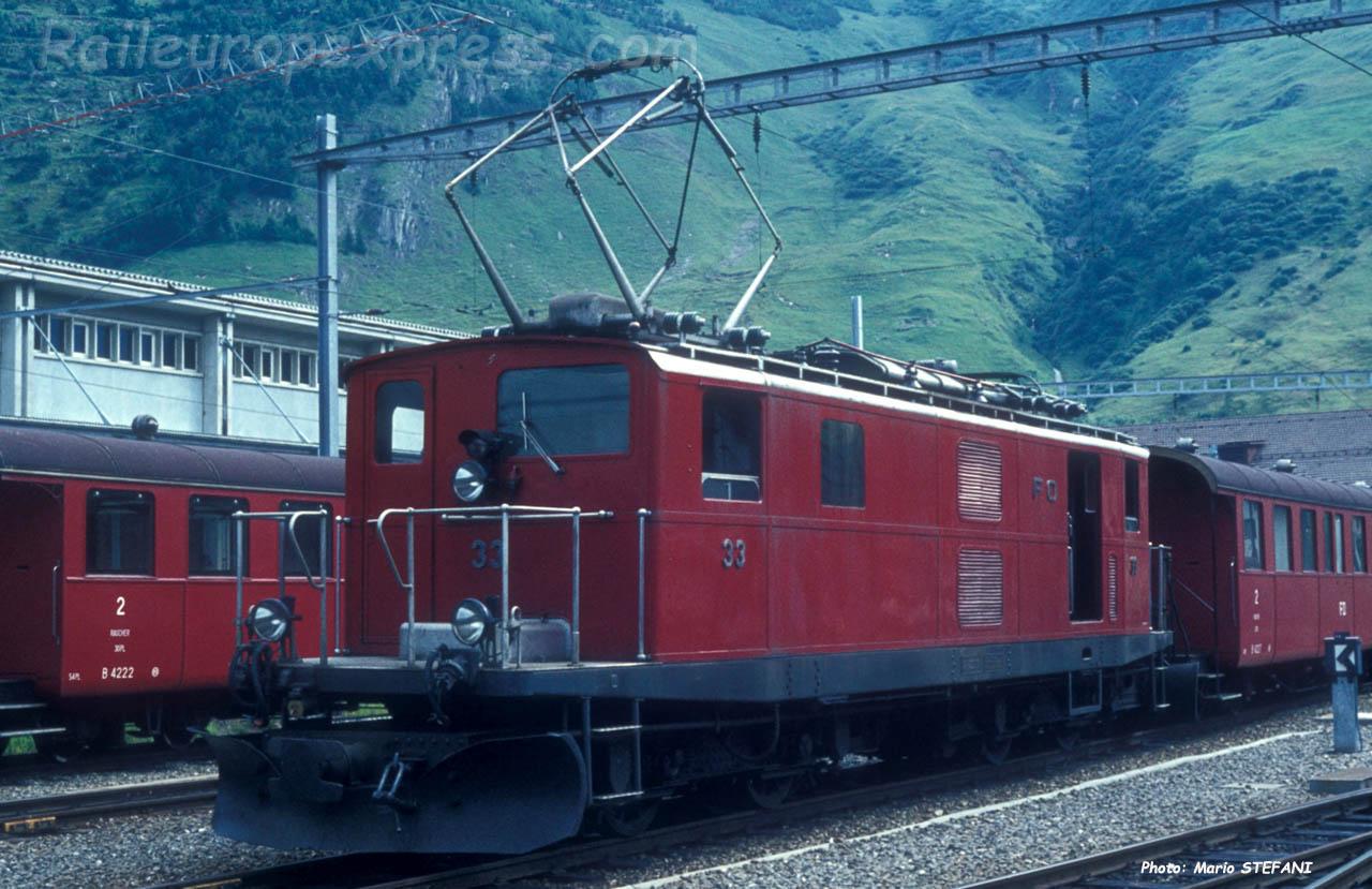 HGe 4/4 33 FO à Andermatt (CH)