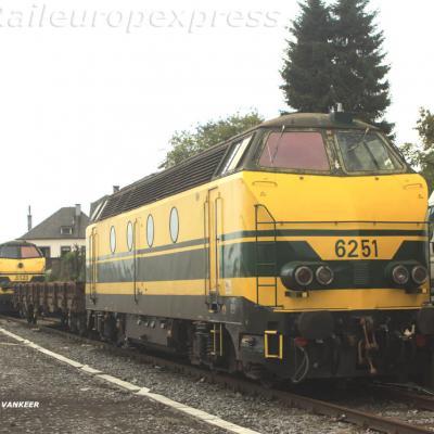 HLD 6251 train de caténaire ligne Namur Luxembourg