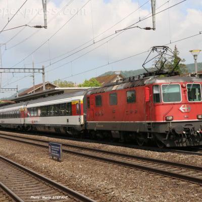 Re 4/4 II 11133 CFF à Sissach (CH)