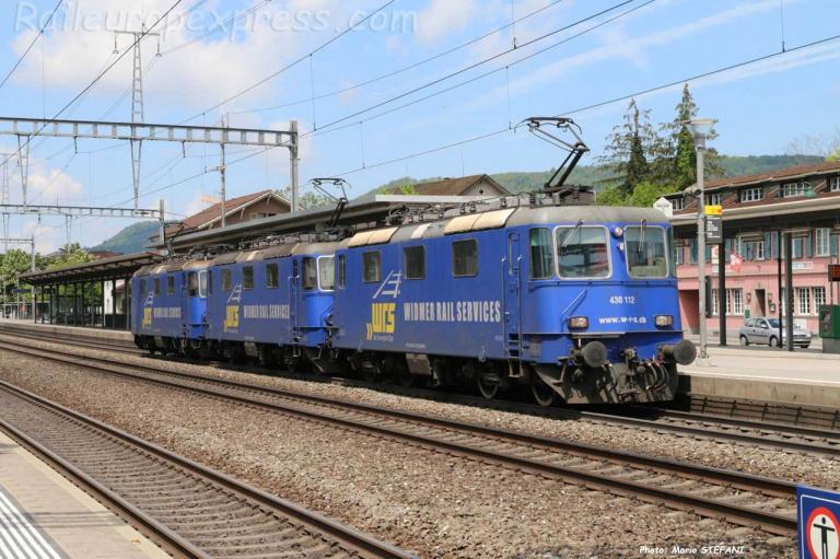 Re 430 112 WRS à Sissach (CH)
