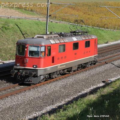 Re 4/4 II 11139 CFF à La Lance (CH)