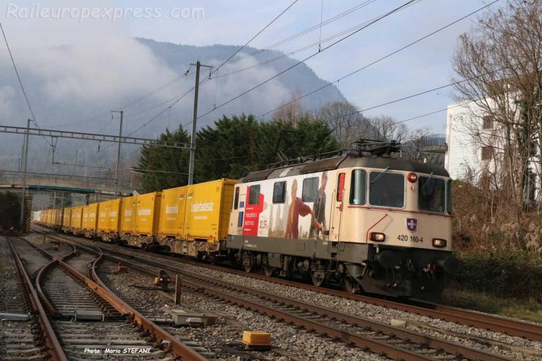 Re 420 160-4 CFF à Boudry (CH)