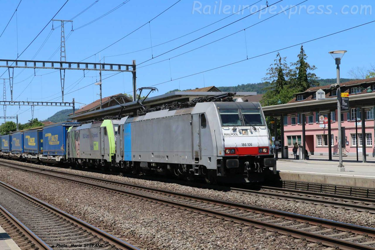 186 106-1 BLS à Sissach (CH)