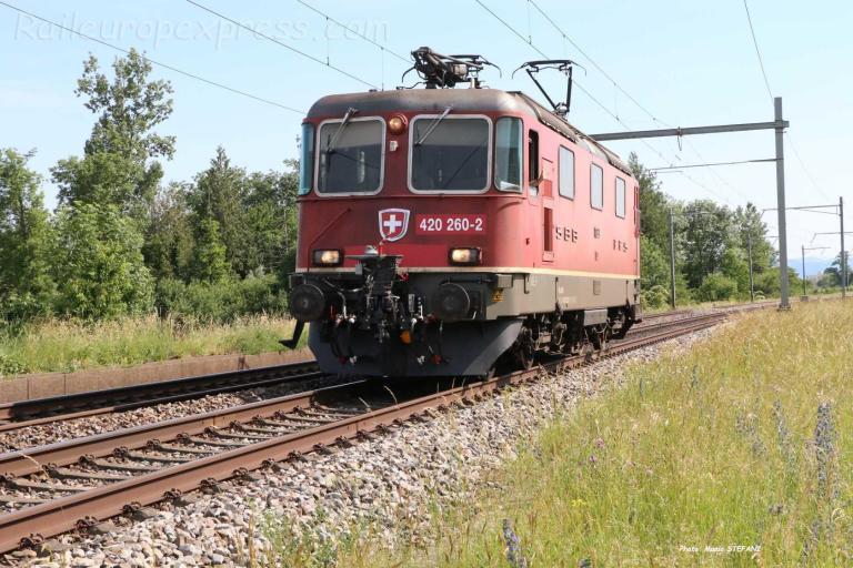 Re 420 260-2 CFF à Boudry-Perreux (CH)