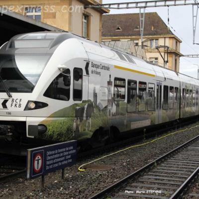 RABe 527 190 TPF à Neuchâtel (CH)