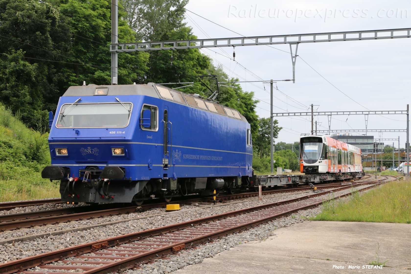 Re 456 114-4 SSG à Boudry (CH)