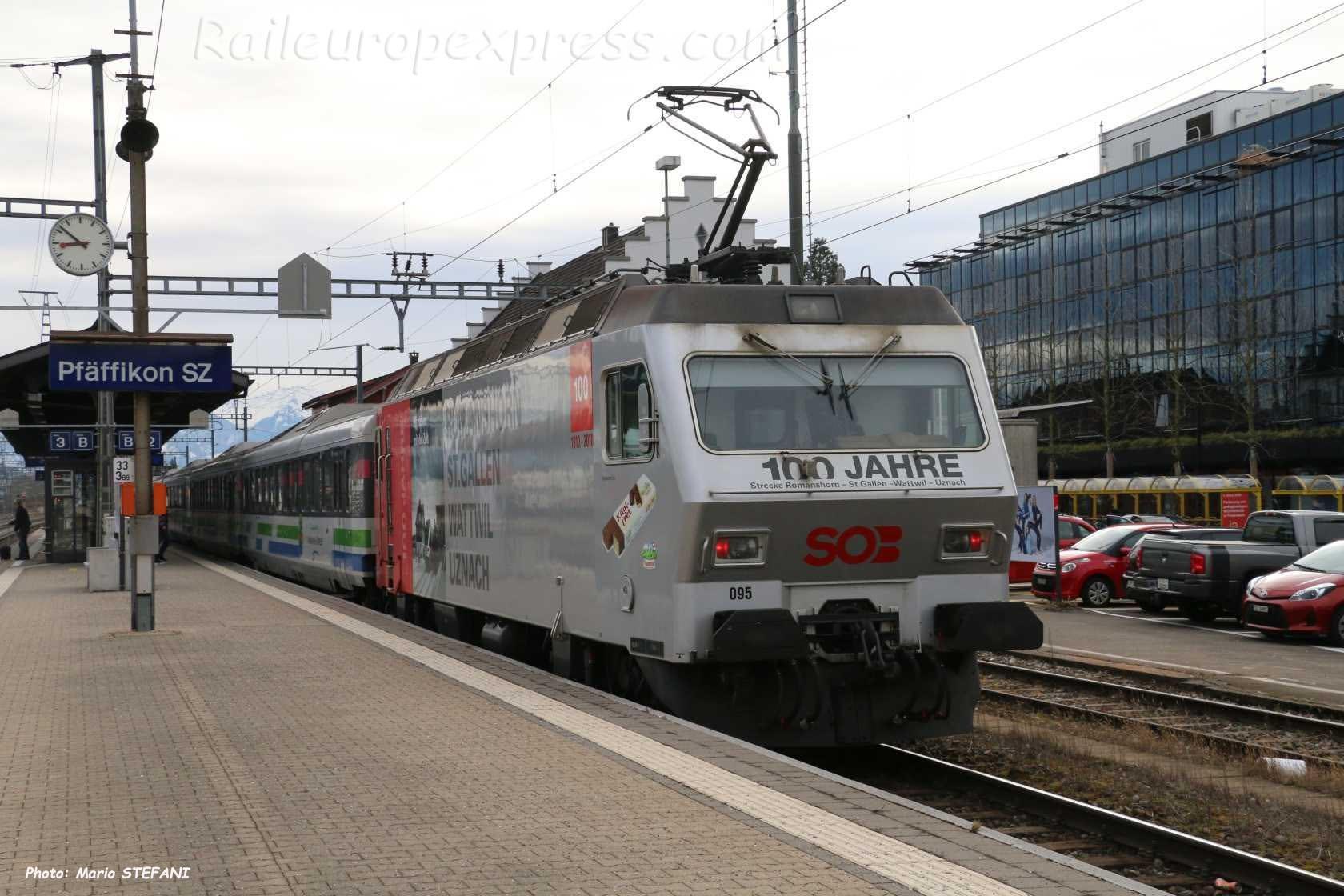Re 456 095 SOB à Pfäffikon (CH)