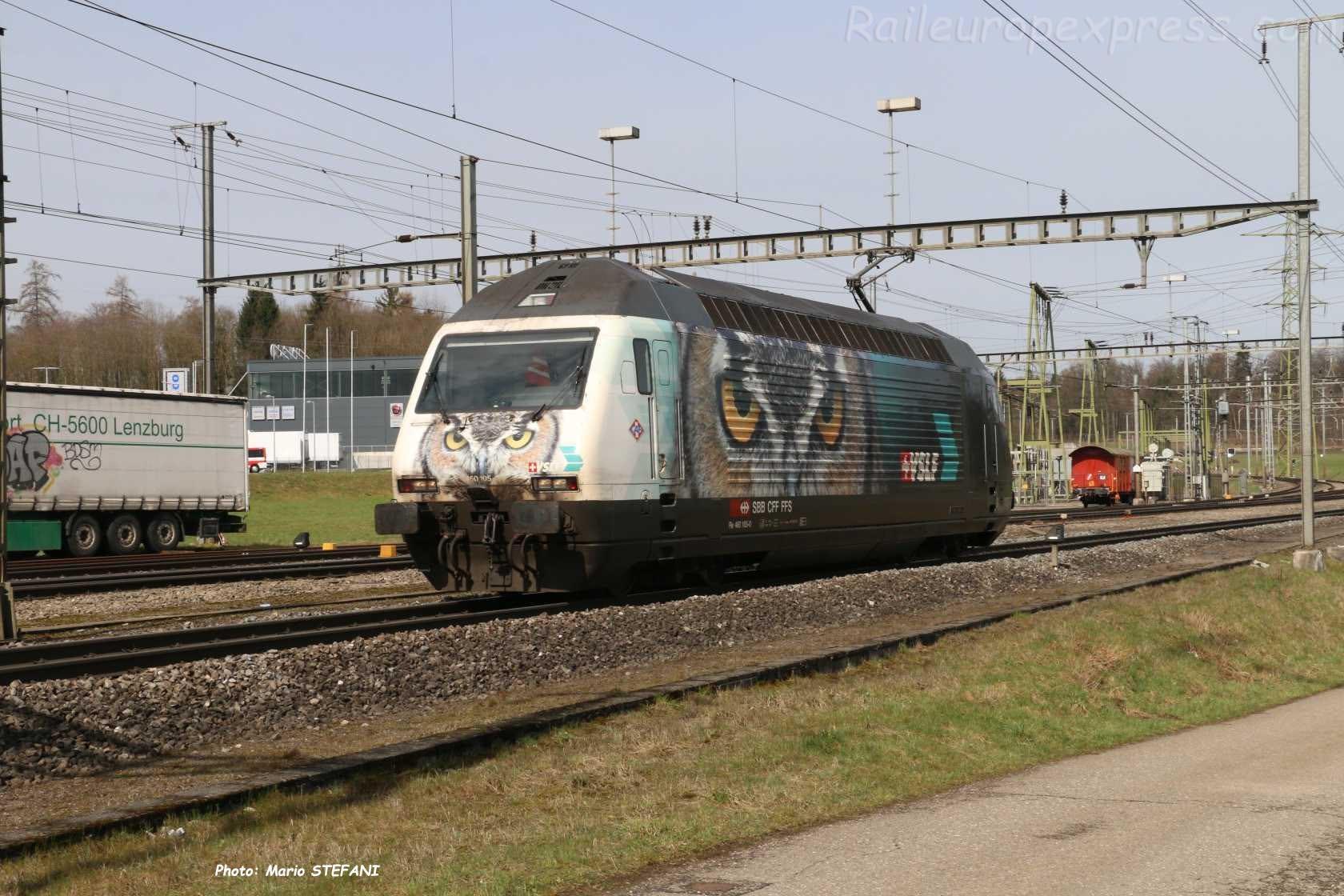 Re 460 105-0 CFF à Hendschiken (CH)